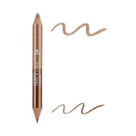 Duo fard & liner Bronze cuivré/Beige doré bio - Avril