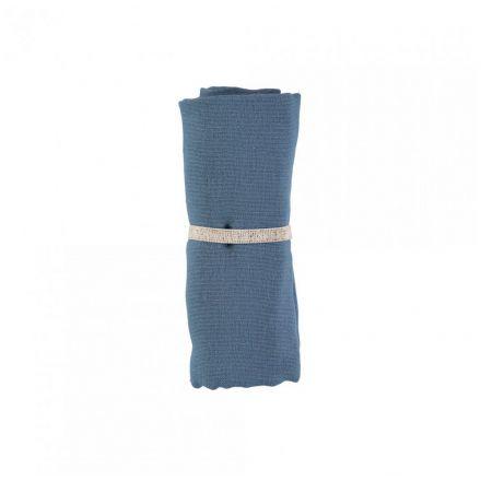 Lange 70 x 70 cm Nobodinoz en coton - Bleu nuit