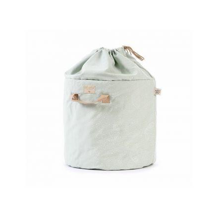 Grand sac à jouets - Bleu confettis blancs