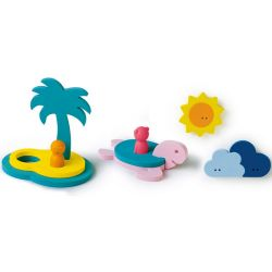 Puzzle de bain + marionnettes - L'île au trésor