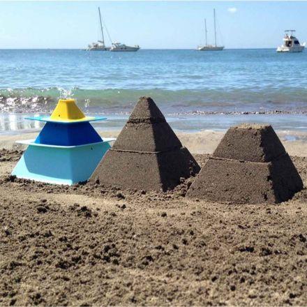 Pira - Moule à pyramide de sable x 3