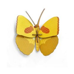 Insecte papillon jaune en 3D - Yellow butterfly - Studio Roof