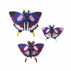 Lot de 3 papillons en 3D - Swallowtail butterflies - Studio roof