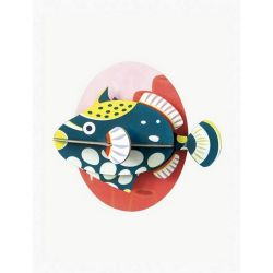 Poisson en 3D - Clown tiggerfish - Studio roof