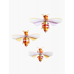 Lot de 3 abeilles en 3D - Honey bees - Studio roof