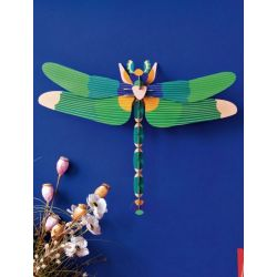 Libellule géante 3D - Green dragonfly - Studio roof