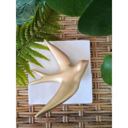 Hirondelle - Volage céramique - Dorée