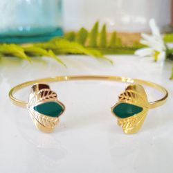 Bracelet jonc Chloé vert canard
