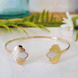 Bracelet jonc Chloé Blanc