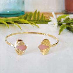 Bracelet jonc Chloé rose pâle