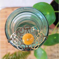 Bracelet ornementation jaune papier recyclé BEY