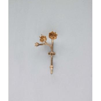 Crochet à fleurs - Laiton doré