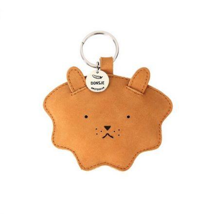 Médaillon - Porte-clés wookie en cuir - Donsje - Lion