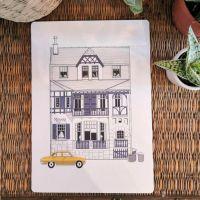 Carte Les Wimereusiennes Villa voiture jaune