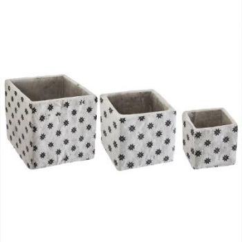 Cache-pot ciment carré use moyen modèle