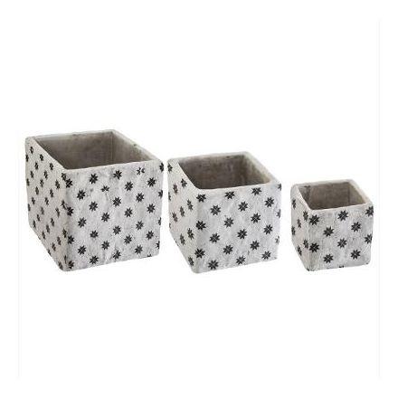 Cache pot ciment carré use moyen modèle