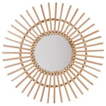 Miroir rotin soleil D 58 cm