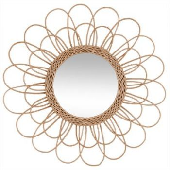 Miroir rotin Fleur D 56cm