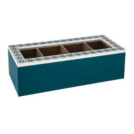 Boîte de thé 4 compartiments plusieurs motifs