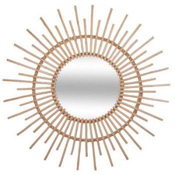 Miroir rotin D 76 cm