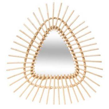 Miroir rotin triangle 57 x 54 cm