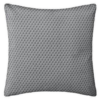 Coussin déhoussable - Motifs blancs sur fond gris