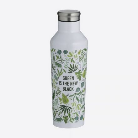 Bouteille isotherme double paroi inox - Green is the new black - 500 ml