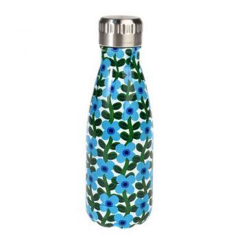 Bouteille en acier inoxydable - 260 ml - Fleurs bleues