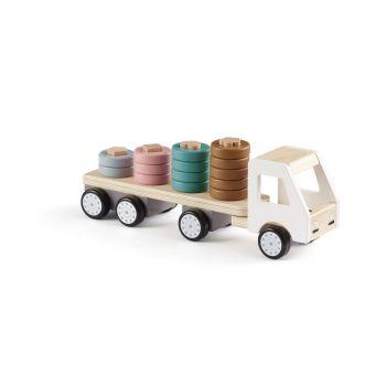 Camion avec anneaux en bois
