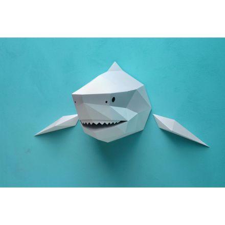 Trophée Orgami - Requin gris