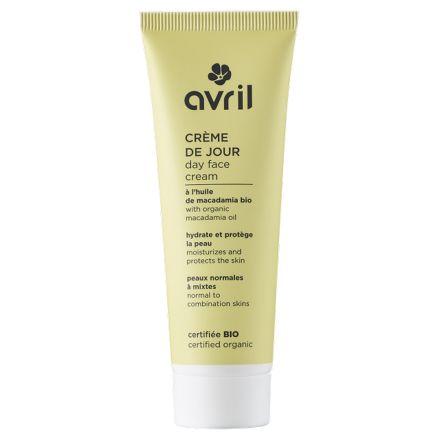 Crème de jour peaux normales et mixtes à l'huile de macadamia bio - AVRIL