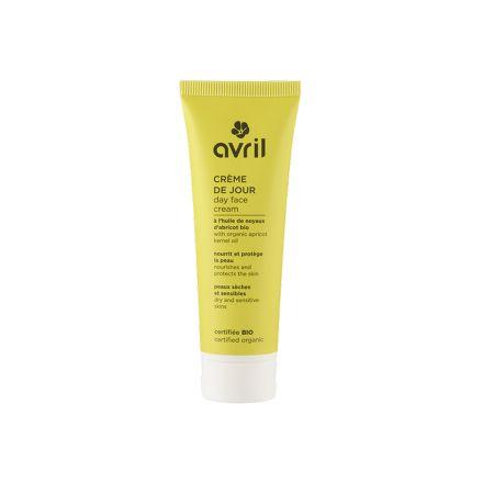 Crème de jour peux sèches et sensibles à l'huile de noyaux d'abricot bio - AVRIL