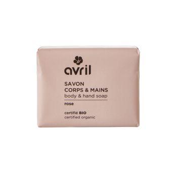 Savon bio corps et main bio - Rose - 100 g - Avril