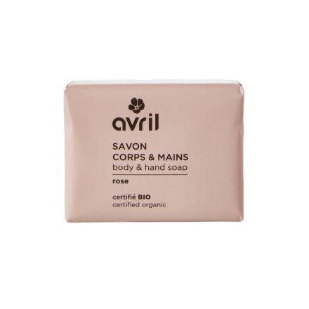 Savon corps et main - Rose - 100 g - Avril