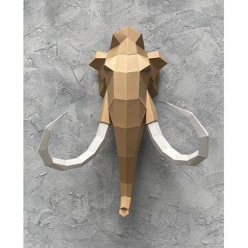 Trophée origami mammouth caramel