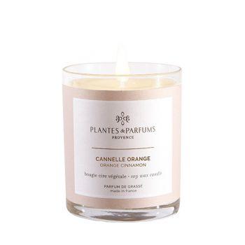 Bougie végétale parfumée - Canelle orange - 180 g
