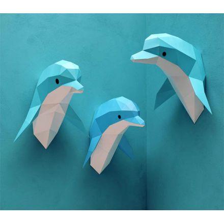 Trophée origami Dauphin