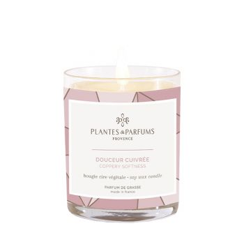 Bougie végétale parfumée - Fleur de coton - 180 g