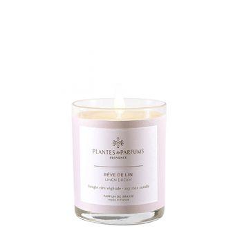 Bougie végétale parfumée - Rêve de lin - 75 g
