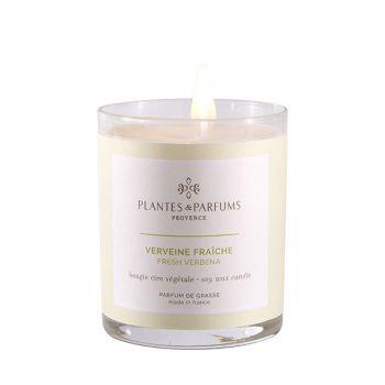 Bougie végétale parfumée - Verveine fraîche - 180 g