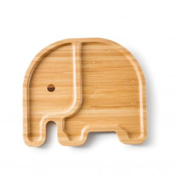 Assiette plateau en bambou - Elli éléphant