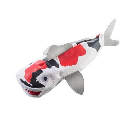 Trousse poisson blanc noir et rouge - Hello koi