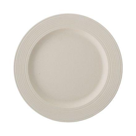 Assiette en bambou - Blanc - 26 cm