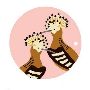 Dessous de plat en bouleau Huppes - 26 cl - Oiseaux Muses