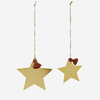 Petite étoile dorée à suspendre