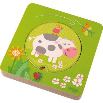 Puzzle en bois - Les animaux de la ferme - Haba