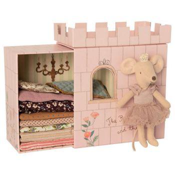 Princesse au petits pois dans son chateau Rose - Maileg