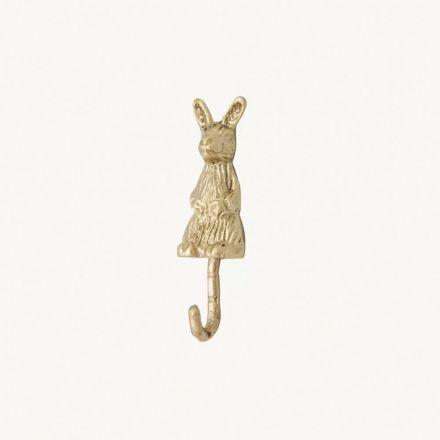 Crochet lapin en laiton doré - Doing goods