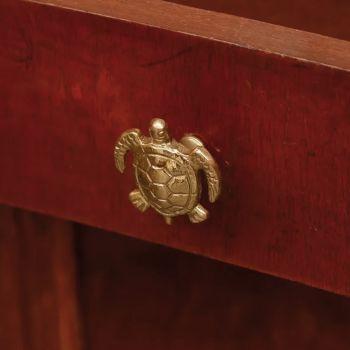 Bouton de tiroir tortue - Doré