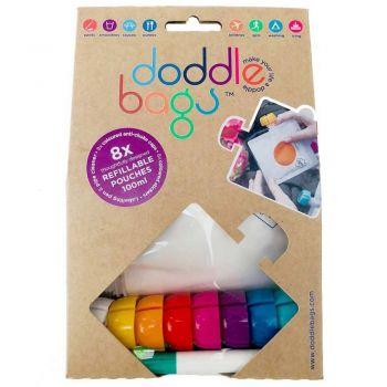Set de 8 gourdes réutilisables - Doodle bags